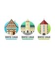 House Logo Web Buttons Set vector image