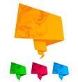 paper origami speech bubble vector vector image