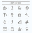 set of building construction icons vector image