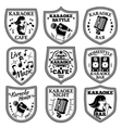 set of Karaoke labels badges etc vector image