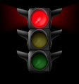 Traffic light with red on vector image