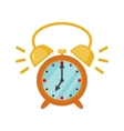 Alarm clock icon in flat style vector image