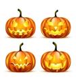 Jack Lantern Pumpkins vector image vector image