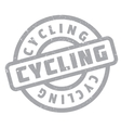 Cycling rubber stamp vector image