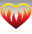 Burning heart sign Vector Image