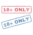18 plus only textile stamps vector image