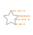 universe star isolated icon vector image