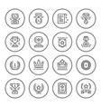 set round line icons of award vector image