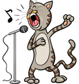 singing cat cartoon vector image vector image