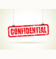 confidential red vector image vector image
