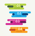 progress banners with ribbon colorful tags vector image vector image