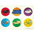 Delivery vehicles vector image
