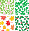 season patterns vector image