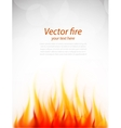 Poster with fire vector image vector image