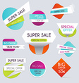 Sale paper banner Sale and discounts Super Sale vector image