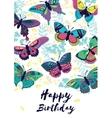 Congratulation card Happy Birthday with flying vector image
