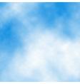 White cloud detail vector image