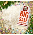 Christmas sale EPS 10 vector image vector image