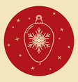 christmas bauble icon in thin line style vector image