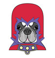 comic villain symbol in costume with cape mask vector image