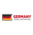 Germany travel destination poster with national vector image