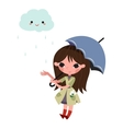 Girl with umbrella vector image