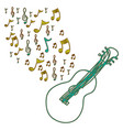 guitar instrument note music icon vector image