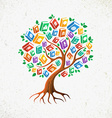 Knowledge and Education concept tree books vector image