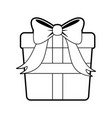 Sketch silhouette image giftbox with wrapping bow vector image
