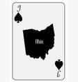 usa playing card jack spades vector image