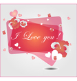 Floral background with hearts vector image vector image
