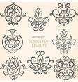 Decorative ethnic elements vector image vector image