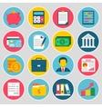 Accounting icons set vector image