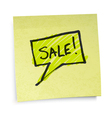 sticky note sale vector image