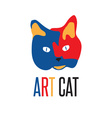 art cat vector image