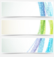 Bright abstract cards headers footers set vector image