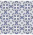 classic vintage seamless pattern in blue and gray vector image