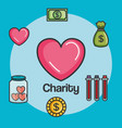 donation charity and volunteer work concept vector image