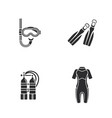 four diving icons vector image