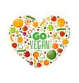 great vegetarian vector image