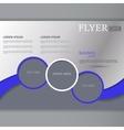 horizontal flyer template vector image