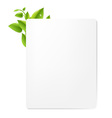 Leaf Decorated Document vector image