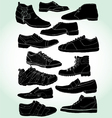 men shoes negative vector image