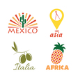 set of international food vector image