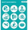 set of round icons white Beauty salon cosmetics vector image