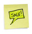 sticky note sale vector image