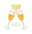 Wineglasses of Sparkling Champagne Happy vector image