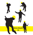 workers silhouette set vector image