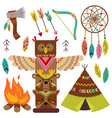 set of isolated tribal elements vector image
