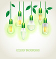 many ecology light bulbs growing up vector image
